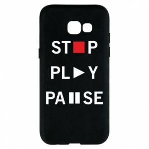 Etui na Samsung A5 2017 Stop. Play. Pause.
