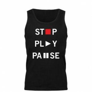 Męska koszulka Stop. Play. Pause.