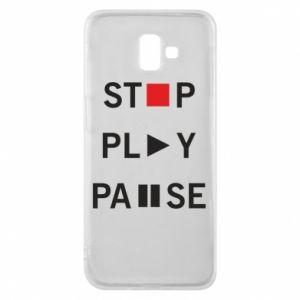 Etui na Samsung J6 Plus 2018 Stop. Play. Pause.