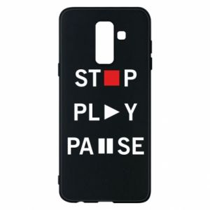 Etui na Samsung A6+ 2018 Stop. Play. Pause.