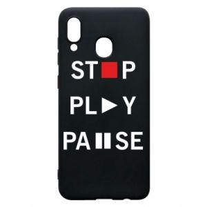 Etui na Samsung A30 Stop. Play. Pause.