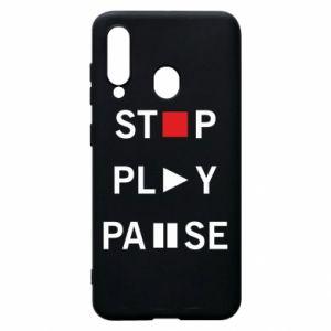 Etui na Samsung A60 Stop. Play. Pause.