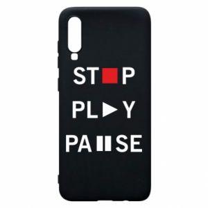 Etui na Samsung A70 Stop. Play. Pause.