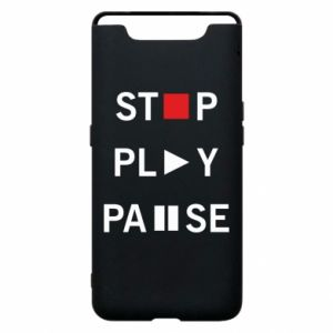 Etui na Samsung A80 Stop. Play. Pause.