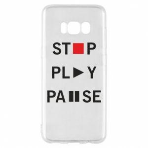 Etui na Samsung S8 Stop. Play. Pause.