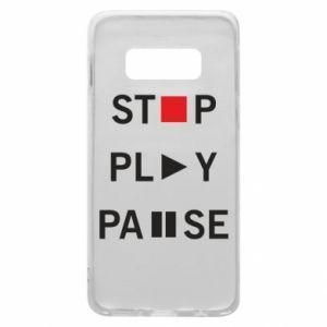 Etui na Samsung S10e Stop. Play. Pause.