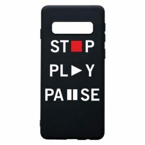 Etui na Samsung S10 Stop. Play. Pause.