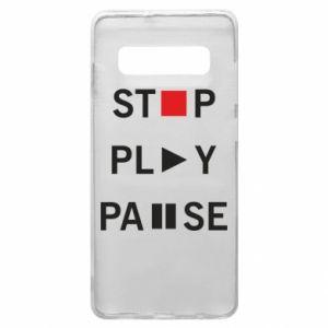 Etui na Samsung S10+ Stop. Play. Pause.