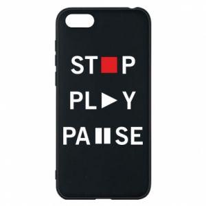 Etui na Huawei Y5 2018 Stop. Play. Pause.