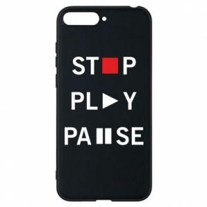 Etui na Huawei Y6 2018 Stop. Play. Pause.
