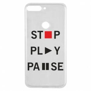 Etui na Huawei Y7 Prime 2018 Stop. Play. Pause.