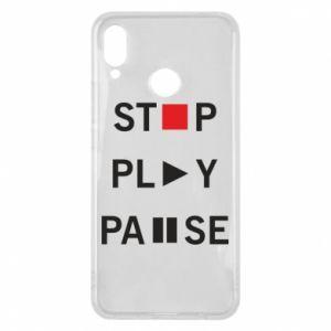 Etui na Huawei P Smart Plus Stop. Play. Pause.