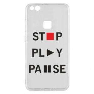 Etui na Huawei P10 Lite Stop. Play. Pause.