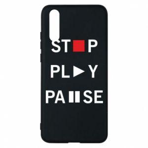 Etui na Huawei P20 Stop. Play. Pause.