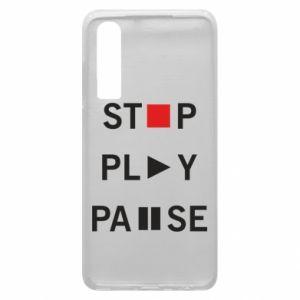 Etui na Huawei P30 Stop. Play. Pause.