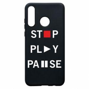 Etui na Huawei P30 Lite Stop. Play. Pause.