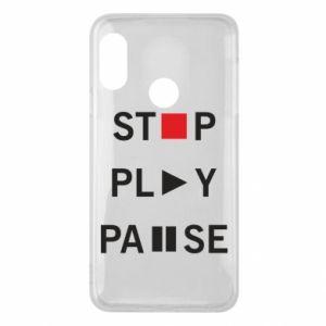 Etui na Mi A2 Lite Stop. Play. Pause.
