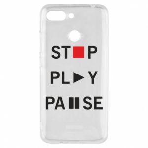 Etui na Xiaomi Redmi 6 Stop. Play. Pause.