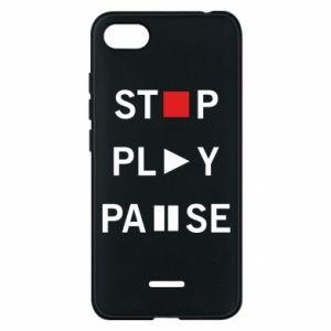 Etui na Xiaomi Redmi 6A Stop. Play. Pause.