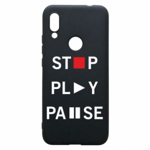Etui na Xiaomi Redmi 7 Stop. Play. Pause.