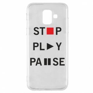 Etui na Samsung A6 2018 Stop. Play. Pause.