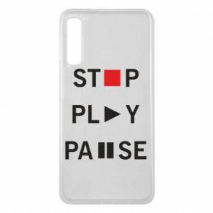 Etui na Samsung A7 2018 Stop. Play. Pause.