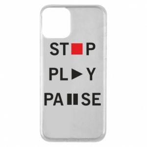 Etui na iPhone 11 Stop. Play. Pause.