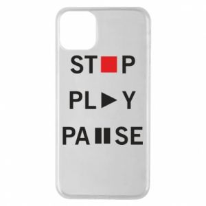 Etui na iPhone 11 Pro Max Stop. Play. Pause.