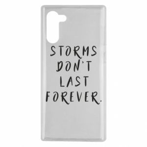 Etui na Samsung Note 10 Storms don't last forever