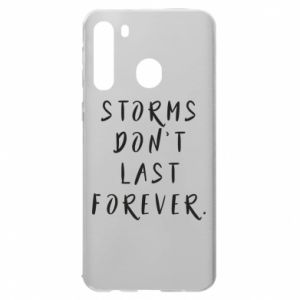 Etui na Samsung A21 Storms don't last forever