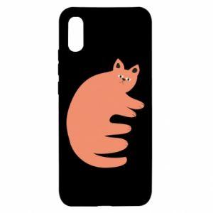 Etui na Xiaomi Redmi 9a Strange ginger cat