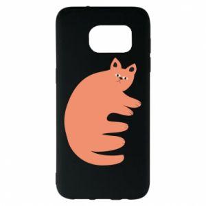 Etui na Samsung S7 EDGE Strange ginger cat