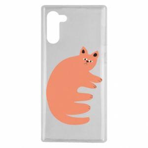 Etui na Samsung Note 10 Strange ginger cat