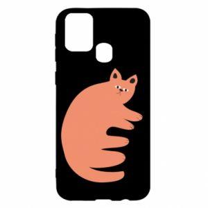 Etui na Samsung M31 Strange ginger cat