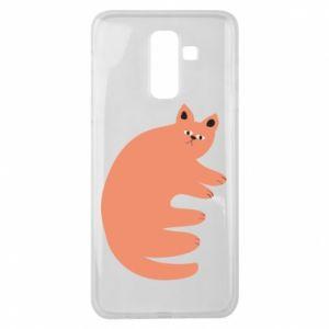 Etui na Samsung J8 2018 Strange ginger cat
