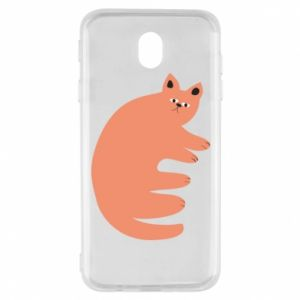 Etui na Samsung J7 2017 Strange ginger cat