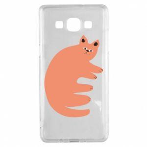 Etui na Samsung A5 2015 Strange ginger cat