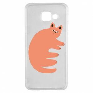 Etui na Samsung A3 2016 Strange ginger cat