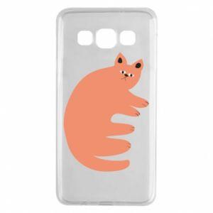 Etui na Samsung A3 2015 Strange ginger cat