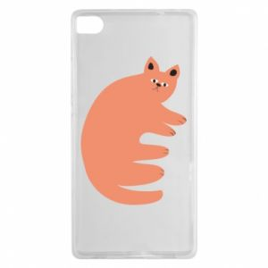 Etui na Huawei P8 Strange ginger cat