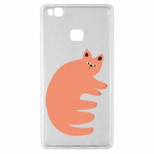 Etui na Huawei P9 Lite Strange ginger cat