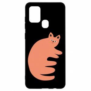 Etui na Samsung A21s Strange ginger cat