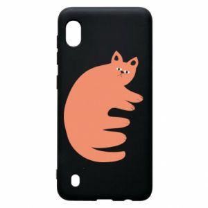 Etui na Samsung A10 Strange ginger cat