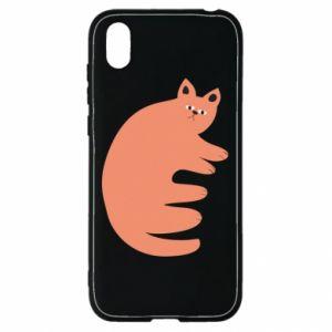 Etui na Huawei Y5 2019 Strange ginger cat