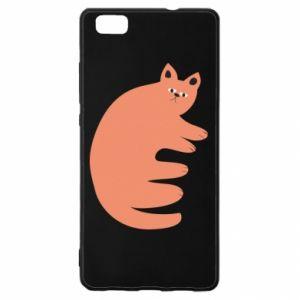 Etui na Huawei P 8 Lite Strange ginger cat