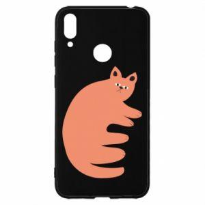 Etui na Huawei Y7 2019 Strange ginger cat