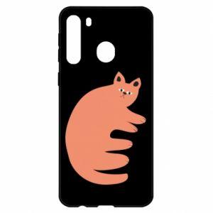 Etui na Samsung A21 Strange ginger cat