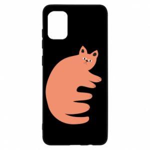 Etui na Samsung A31 Strange ginger cat