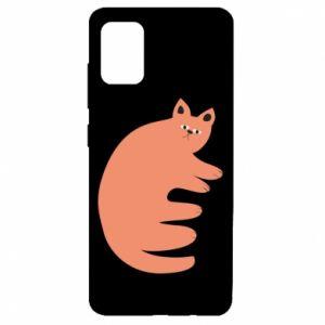 Etui na Samsung A51 Strange ginger cat