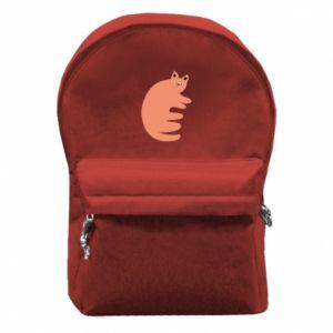 Plecak z przednią kieszenią Strange ginger cat